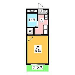 メゾン小坂 B[1階]の間取り