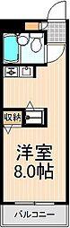 サン青井[307号室]の間取り