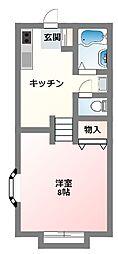 第三稲荷山ハイツ(第3稲荷山ハイツ)[1階]の間取り