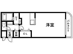 アシルN20 2階ワンルームの間取り