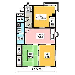 メゾン徳II[4階]の間取り