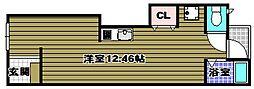 大阪府河内長野市松ケ丘中町の賃貸アパートの間取り