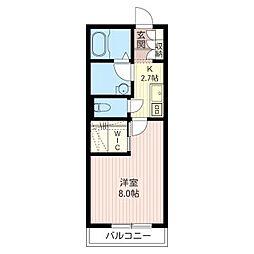 レクエル小豆沢 South Court[1階]の間取り