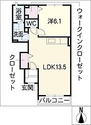 エレガントA棟[1階]の間取り