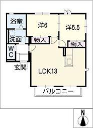 シャトレCOCO E棟[2階]の間取り