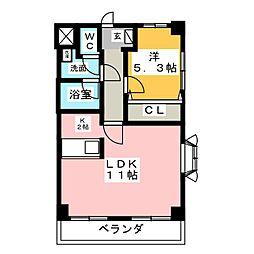 グリーンピアヤマフク[2階]の間取り