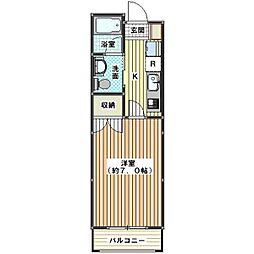 埼玉県川越市藤間の賃貸マンションの間取り