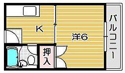 リュイール樋口[1階]の間取り