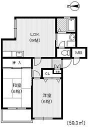 ハイツフルール[2階]の間取り