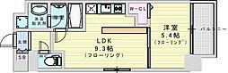 阪急神戸本線 神崎川駅 徒歩10分の賃貸マンション 1階1LDKの間取り