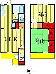 [テラスハウス] 千葉県松戸市五香4丁目 の賃貸【/】の間取り