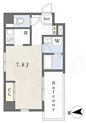 Lui Chance3 2階ワンルームの間取り