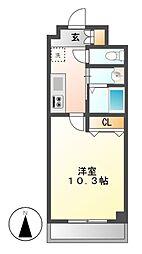ラフィーネ名駅西[3階]の間取り