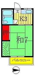 コーポ宇田川[1階]の間取り