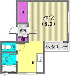 メゾン平野[5階]の間取り