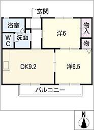 NISHIKI香久山[2階]の間取り