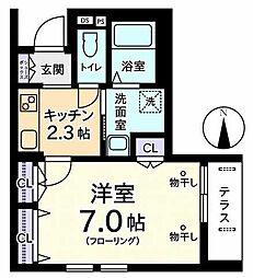 maison clavier(メゾンクラヴィエ)[1階]の間取り