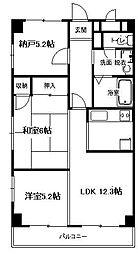 神奈川県平塚市四之宮3丁目の賃貸マンションの間取り