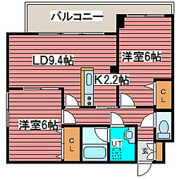 LEE SPACE 栄通[7階]の間取り