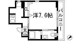 ロイヤルメゾン宝塚[6階]の間取り