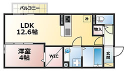 セジュール青谷壱番館[2階]の間取り