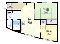 第3ファンタジー2階Fの間取り画像