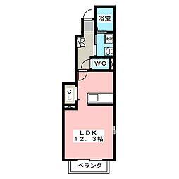 ビサイドパーク[1階]の間取り
