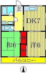 第3高橋コーポ[102号室]の間取り