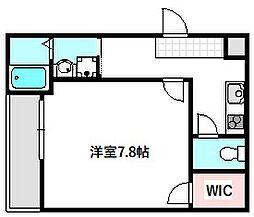 Osaka Metro谷町線 守口駅 徒歩6分の賃貸アパート 1階1Kの間取り