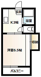 桜コーポA[207号室]の間取り