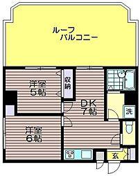 M-2ハイツ[601号室]の間取り