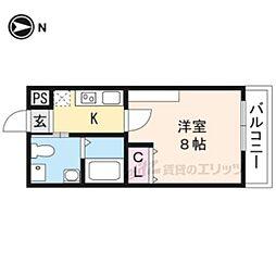 フェリーチェ妙蓮寺 4階1Kの間取り