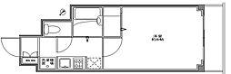 スカイコート月島[7階]の間取り