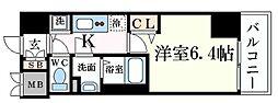 JR東海道・山陽本線 元町駅 徒歩1分の賃貸マンション 9階1Kの間取り