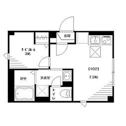 仮称:大和田Tマンション[102号室]の間取り