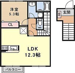 コンフォート・K[201号室号室]の間取り