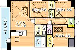Fu-ton3黒崎(フートンスリー黒崎)[2階]の間取り