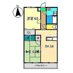 グランドゥールYANO[2階]の間取り
