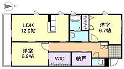 トリニティコートB棟[3階]の間取り