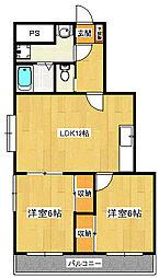 メイプルマンション[3階]の間取り