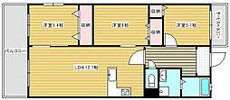 クリア・クレセント住之江[9階]の間取り