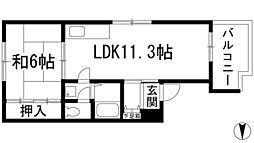 サンロイヤルオザキ[4階]の間取り