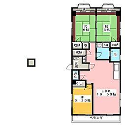 ハイランドマンション[2階]の間取り