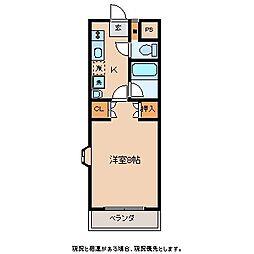 ラヴィアンローズII[4階]の間取り