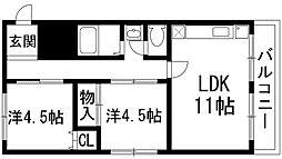 宝塚プルミエール[2階]の間取り