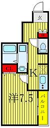 JR埼京線 北赤羽駅 徒歩12分の賃貸マンション 1階1Kの間取り