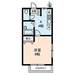 エコーハイム[2階]の間取り