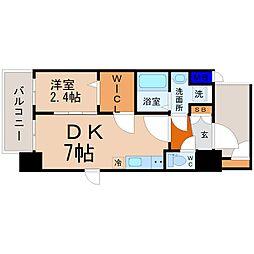 JR中央本線 鶴舞駅 徒歩9分の賃貸マンション 8階1DKの間取り