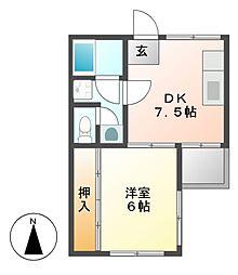 第一川島ビル[5階]の間取り