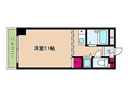阪神本線 西灘駅 徒歩1分の賃貸マンション 2階ワンルームの間取り